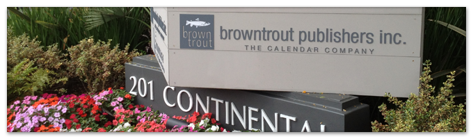 Image shows sign outside of BrownTrout's main office in Los Angeles