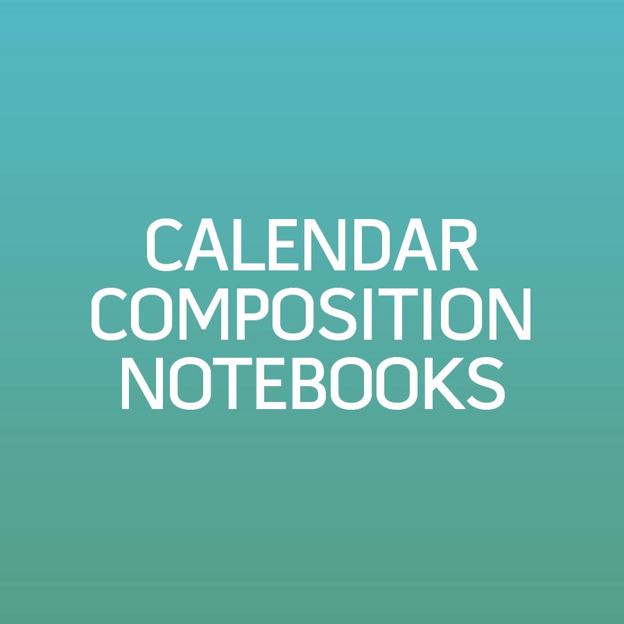 Calendar Composition Notebook